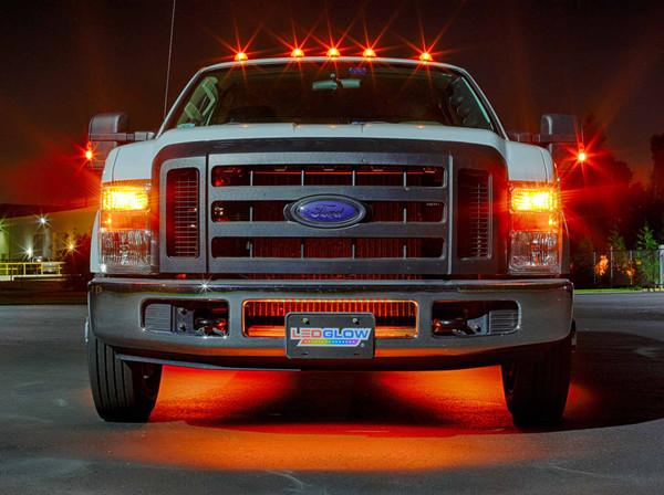 6pc Orange Wireless SMD Truck Underglow