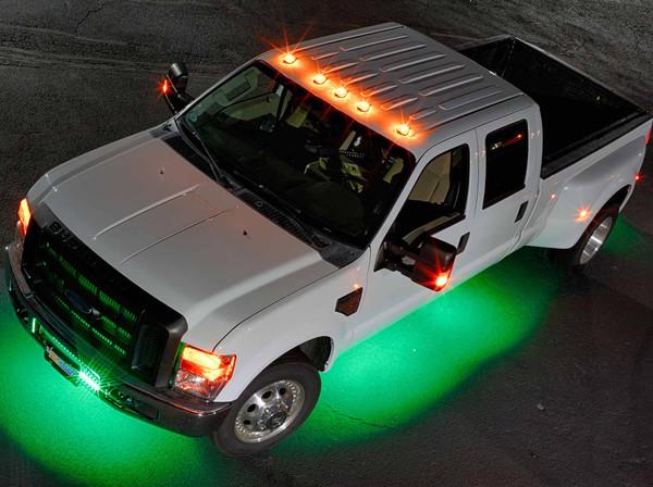 LEDGlow 6pc Wireless Green SMD LED Underbody Lighting Kit