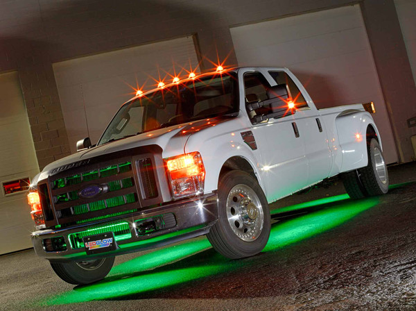 6pc Green SMD LED Truck Underbody Lighting