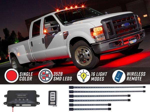 Red Wireless SMD LED Truck Underbody Lighting Kit