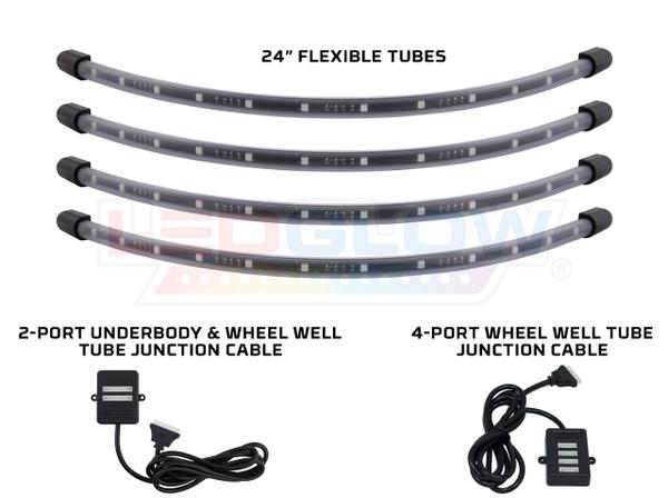 4pc Million Color Flexible LED Wheel Well Lighting Add-On Kit