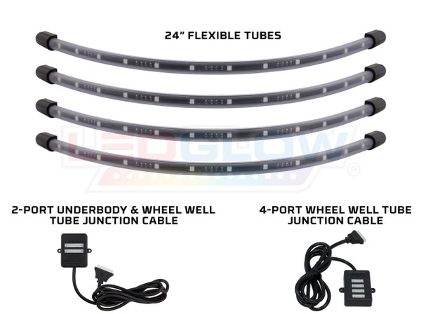 4pc Million Color Flexible LED Wheel Well Lighting Add-On Kit