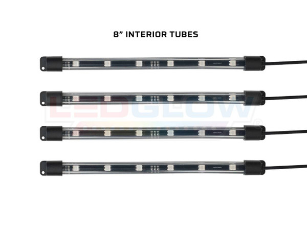 "Add-On 8"" Interior Lighting Tubes for Million Color Golf Cart Underbody Kit"