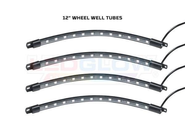 "Add-On 12"" Flexible Wheel Well Tubes for Million Color Golf Cart Underbody Kit"