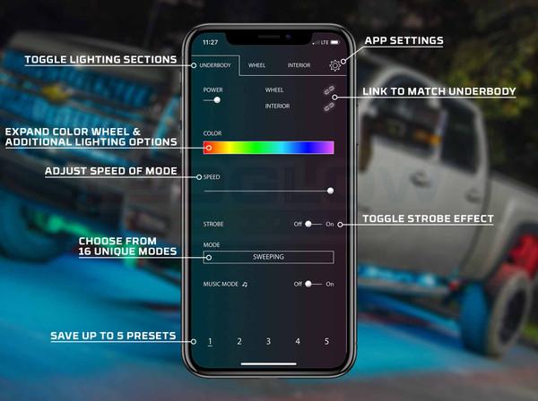 LEDGlow Automotive Control App Features