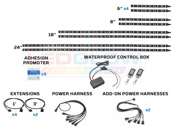 Advanced Million Color SMD LED Snowmobile Lighting Kit