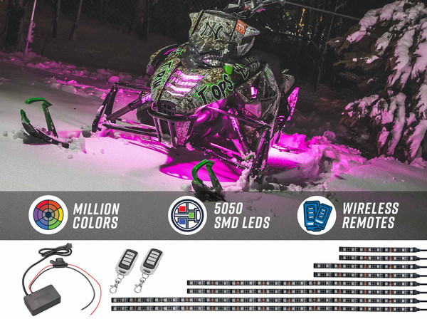 Advanced Million Color SMD LED Snowmobile Lighting Kit