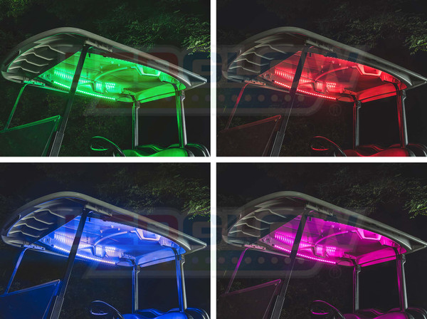 Million Color Canopy LED Lights for Golf Cart Underbody Kit