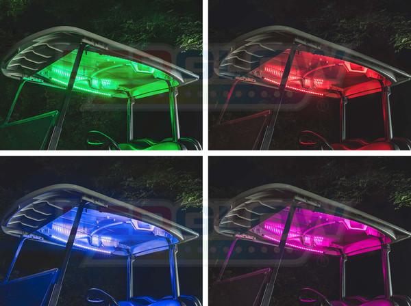 Million Color Canopy LED Lights for Golf Cart Underbody Kit