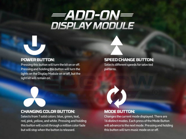 Add-On Display Module Button Explanations