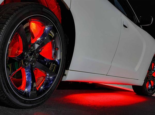 Red Add-On Wheel Well Lights