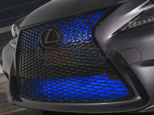 "24"" Blue SMD LED Add-On Grille Light Installed"