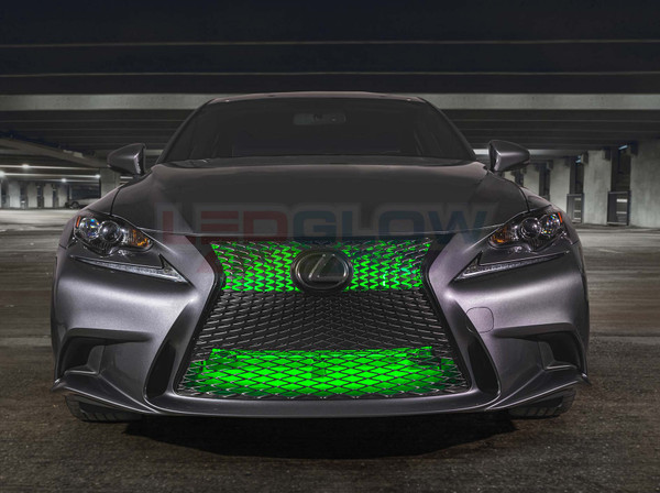 """24"""" Green SMD LED Add-On Grille Light Installed"""