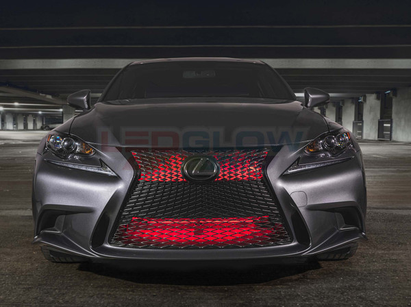 "24"" Red SMD LED Add-On Grille Light Installed"