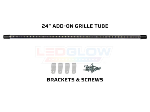 "24"" Red SMD LED Add-On Grille Light Tube for Slimline Underbody Kits"