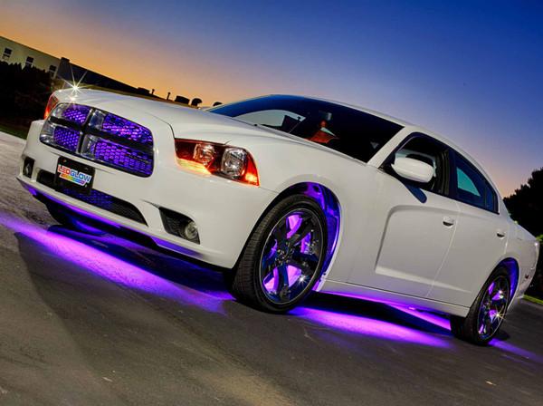 Purple Add-On Wheel Well Fender Lights for White Underbody Light Kit