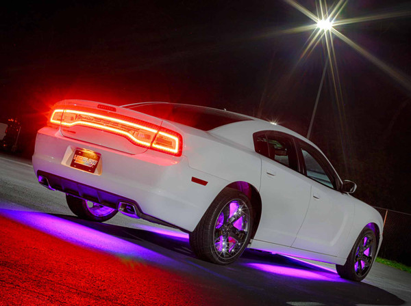 Purple Add-On Wheel Well Lights for White Underglow Light Kit