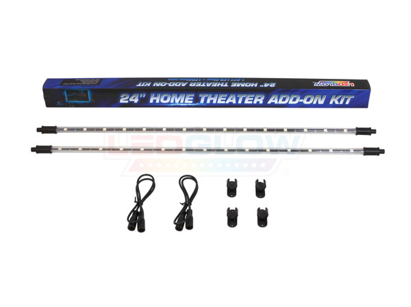 "2pc 24"" Add-On Tubes for Million Color Home Theater Kit Unboxed"