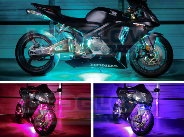 LEDGlow Advanced Million Color Motorcycle LED Lighting Kit
