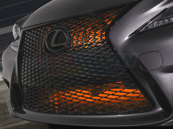 "24"" Orange SMD LED Add-On Grille Light Installed"