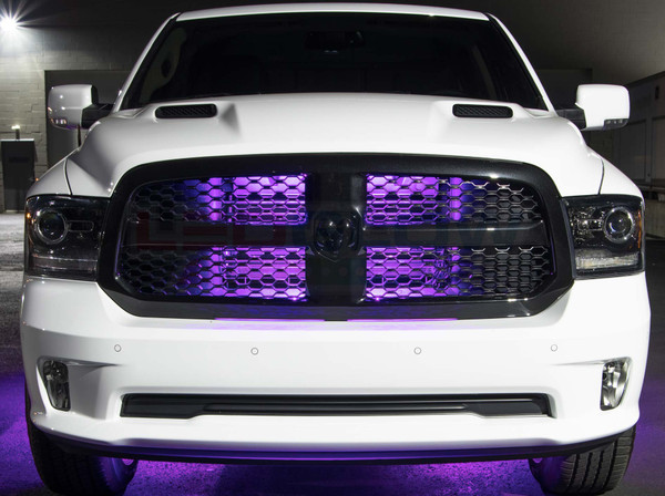 "24"" Purple SMD LED Add-On Grille Light Installed"