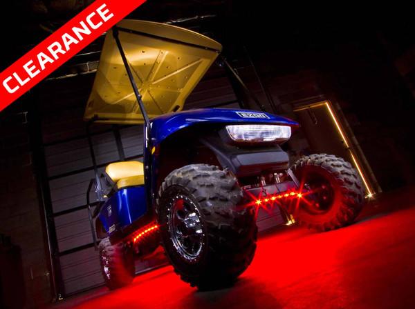 4pc 7 Color Slimline LED Golf Cart Underbody Lighting Kit