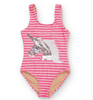 Unicorn Pink Stripe Swimsuit