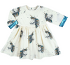 Olive Dress Unicorn White