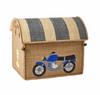 Raffia Toy Basket - Race Car