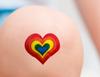 GG Rainbow Heart Bandages