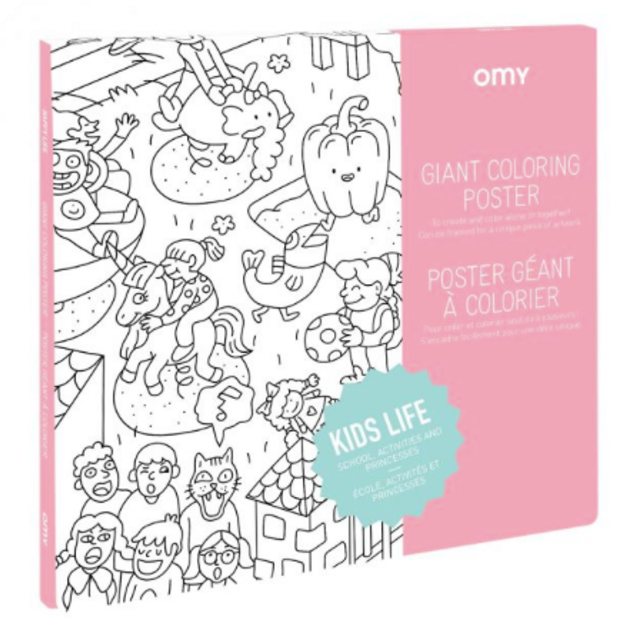 Giant Coloring Poster - Kids Life