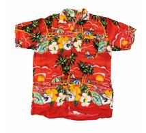 Hawaiian Shirt Red 12-14y