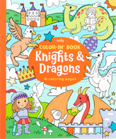 Color-In Book- Knights & Dragons