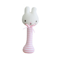 AR Baby Bunny Stick Rattle - Pink