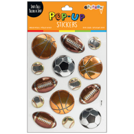 Pop Up Sticker - Sports Balls