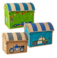 Raffia Toy Basket - Race Car