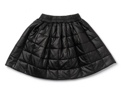 OM Faux Leather Skirt