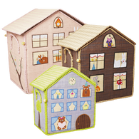 Raffia Toy Basket - Girls Jungle House