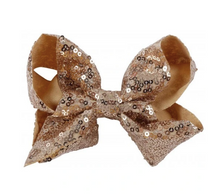 L&M sequin Bow- Gold
