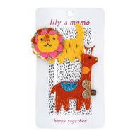 L&M Lion & Giraffe Clips