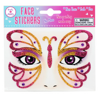 PP Butterfly Face Sticker Tattoo