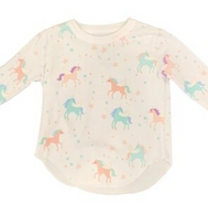 CH L/S Tee- Pretty Unicorns