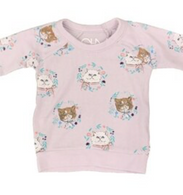 CH L/S Top- Kitty Wreath
