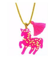 BB Pendant - Hot Pink Sparkly Unicorn