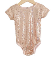 CD Leotard Rose Gold Sequin