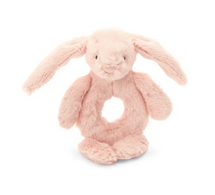 JC Bashful Blush Bunny Ring Rattle