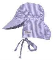 Flap Hat Blue Stripe