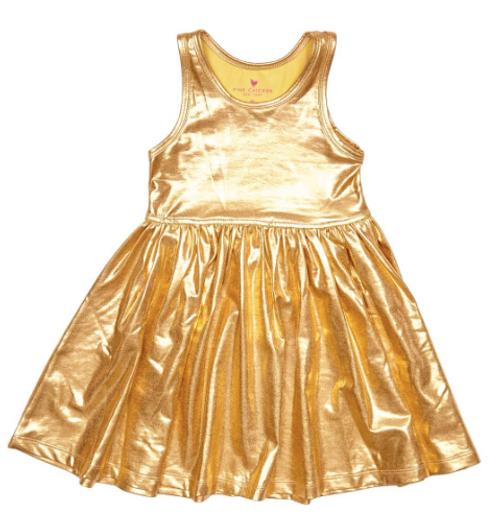 Liza Lame Dress Gold
