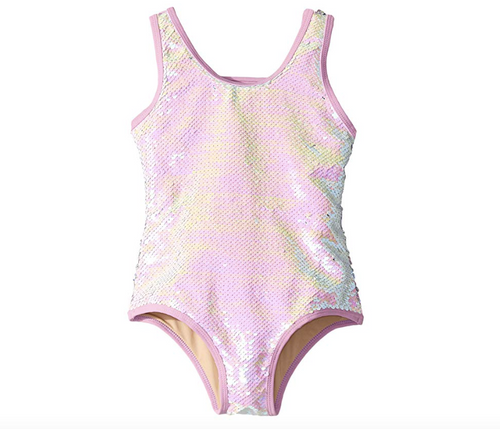 Sequin Swimsuit Pink/Silver