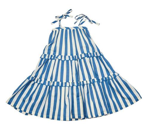 Garden Dress Blue Stripe